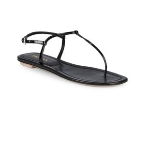 NEW PRADA Patent Leather Thong Sandals